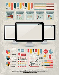 Trendy Inforgraphic Vector Design Elements
