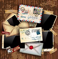 Vintage Letters & Postcards Vector