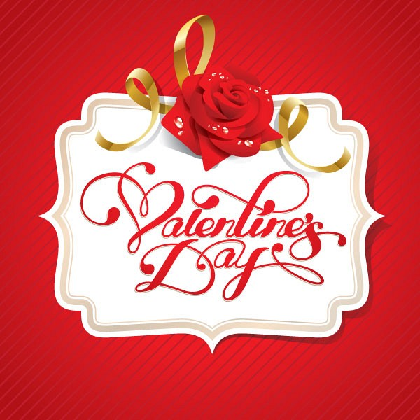 Valentine's Day Vector Label
