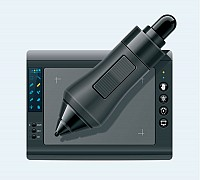 Drawing Tablet & Stylus Vector