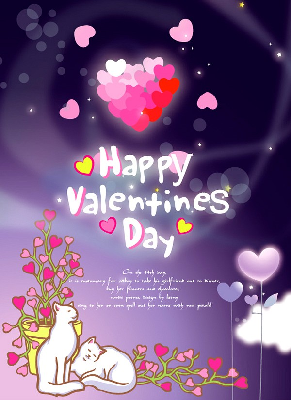 Happy Valentine�s Day Card Template
