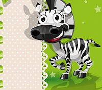 Cute Zebra Vector Cartoon