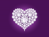 Valentine's Day Diamond Heart