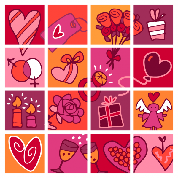 Valentine's Cartoon Vector Frames
