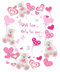 Happy Valentine's Cute Bears Illustration