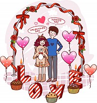 Valentine Cartoon Illustration