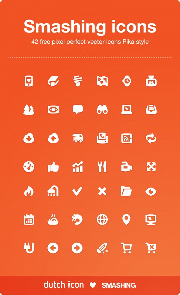 Pika Style Vector Icons Set