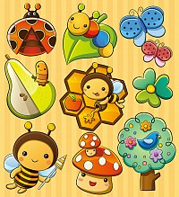 Cartoon Insects Vector Illustrations