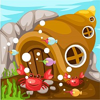 Crab Shack Vector Illustration