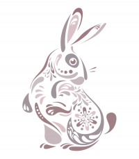 Abstract Bunny Illustration