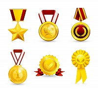 Golden Vector Medals