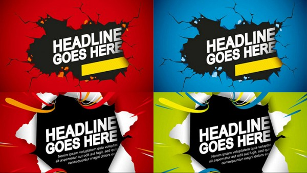 Cracked Wall Vector Banner