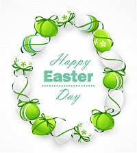 Happy Easter Vector Background Decoration