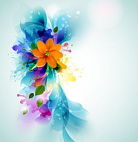 Abstract Ink Floral Background