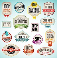 Promo Stickers Vector Set