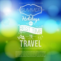 Summer Holidays Vector Poster