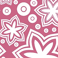 Pink Floral Vector Pattern