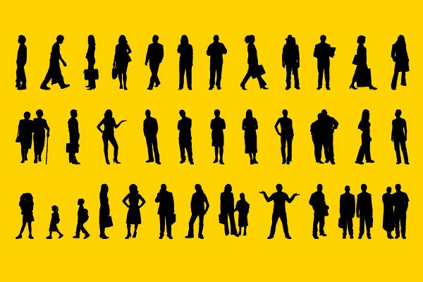 Mixed People Silhouettes