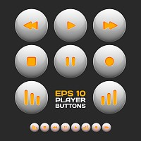 Glossy Music Buttons