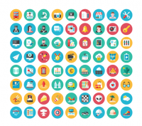 Kameleon 120 Flat Icons That Changes Colors�