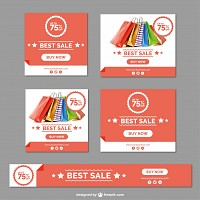Promotional Sale Vector Stationery