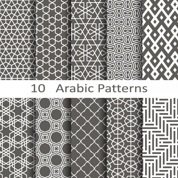 Seamless Arabic Vector Patterns
