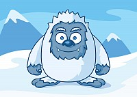 Winter Monster Vector Character