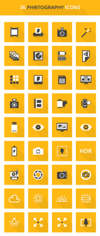 Free Photography Icons Set