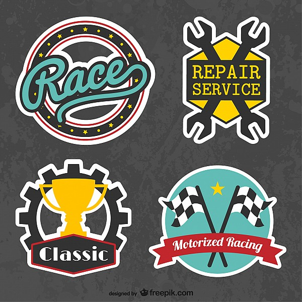 Car Racing Logos Stickers