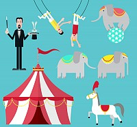 Circus Vector Elements
