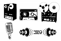 Vintage Recording Set Vector