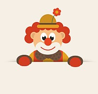 Cute Cartoon Vector Clown