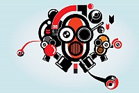 Cool Robot Illustration Vector