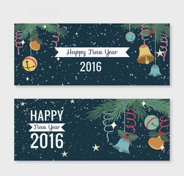 Happy New Year 2016 Banners