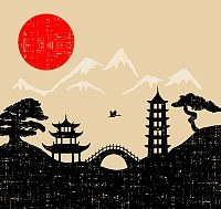 Japanese Landscape Illustration