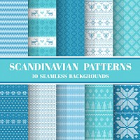 Seamless Scandinavian Patterns