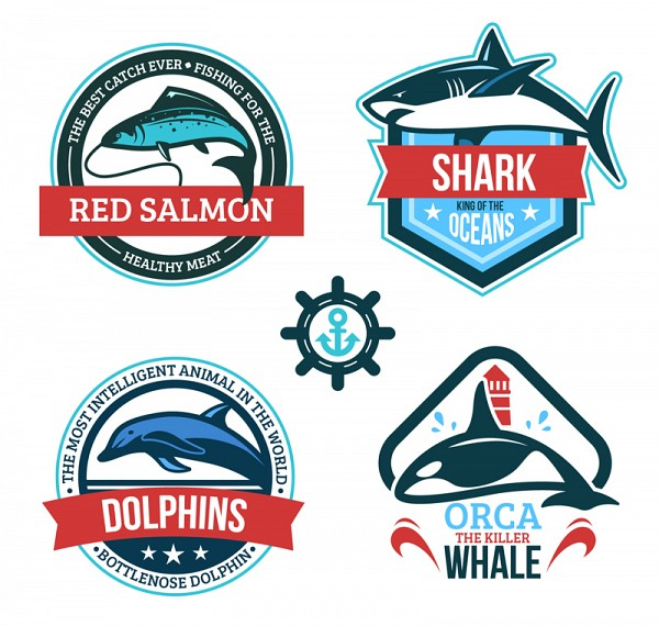 Fish Logo Badges