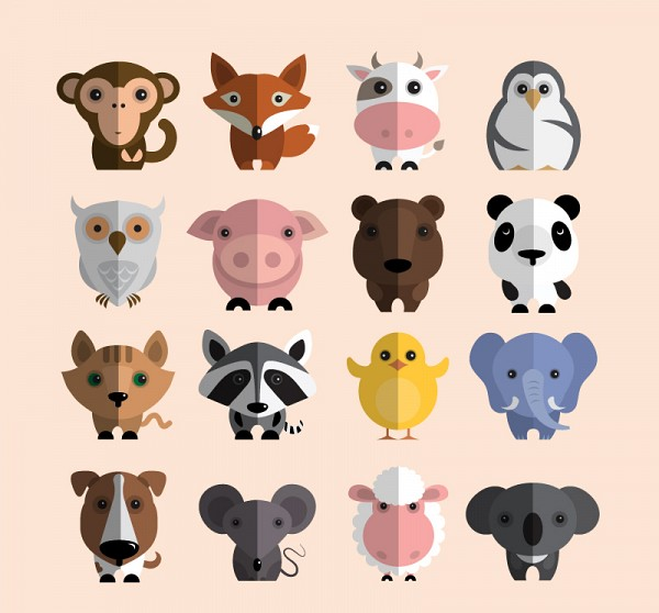 Cute Animal Caricatures