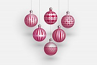 Chrismas Tree Balls Vector