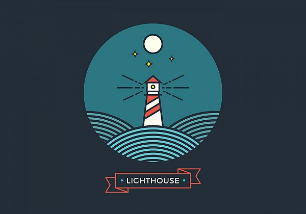 Flat Style Lighthouse Vector