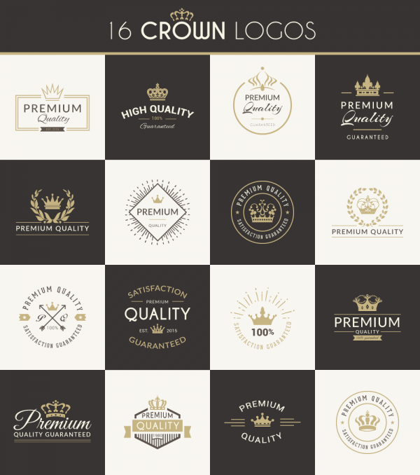 16 Crown Logo Objects