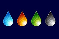 Colorful Water Drop Vector
