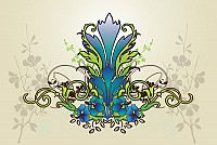Cool Flower Background Vector