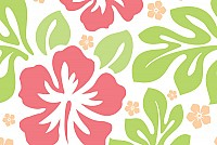 Seamless Aloha Vector Pattern