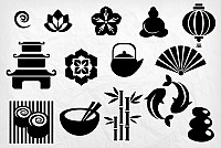 Japan Culture Vector Objects